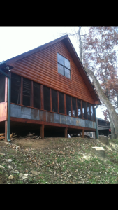 Eagles Perch Cabin Back Screened Porch