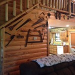 Eagles Perch Cabin Loft Stairway