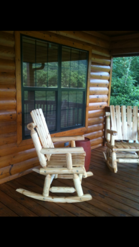Eagles Perch Cabin Front Porch