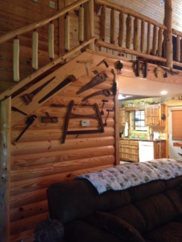 Eagles Perch Cabin Loft Stairway